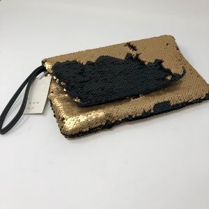 A New Day Black Gold Iridescent Wristlet Purse